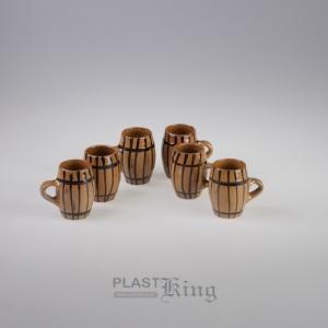 Set butoiase de tuica ceramica, 6buc, mijlocii
