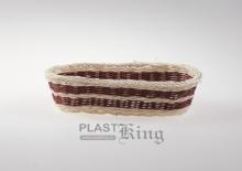 Cos pentru paine ratan oval 38-17   28x13,5xH7cm