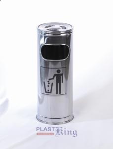 Scrumiera cilindrica inox 22 cm
