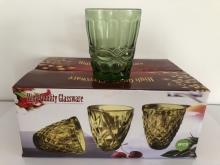Pahar sticla apa 250ml 6buc groasa